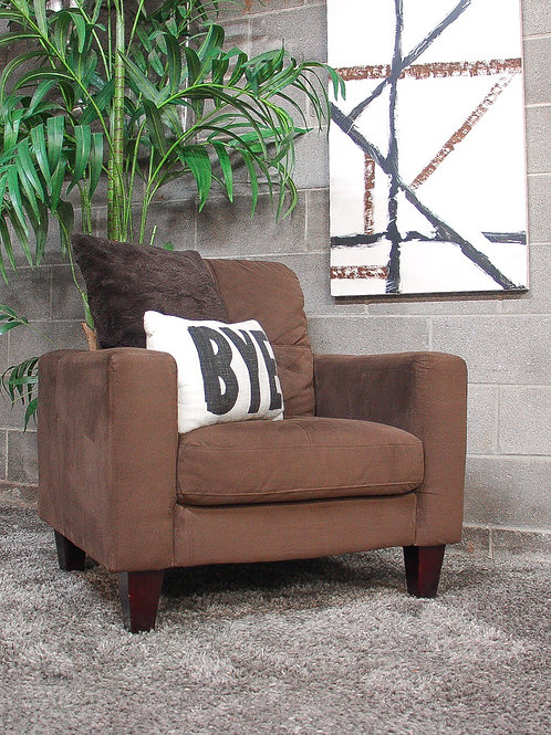 Haining Gelin Brown Accent Chair and Wall Art