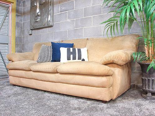 Tan Microsuede Sofa