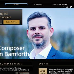 "Damain Bamforth  ""The Composer""."