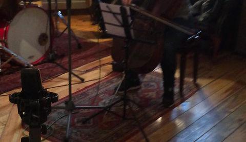 Recording Cello for the Thomas Cameron album  at H