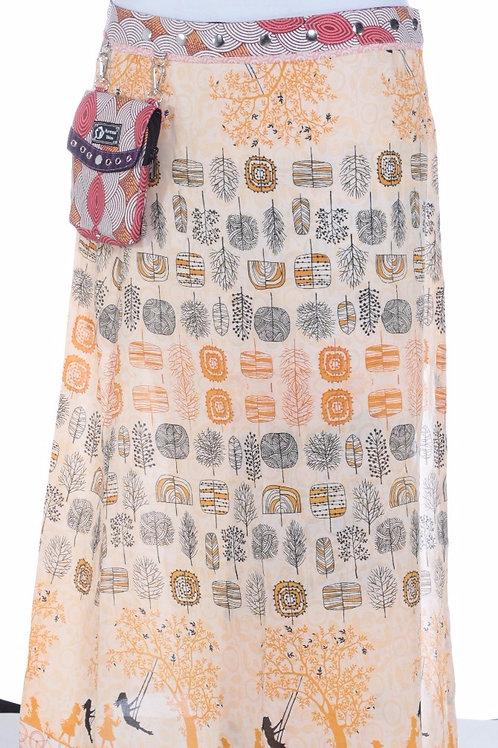 Esmeralda Maxi Skirt Rayon XL with purse