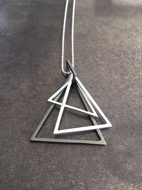 A1-56 Necklace with 3 Triangles