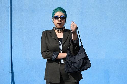Green Checkered Skirt Suit