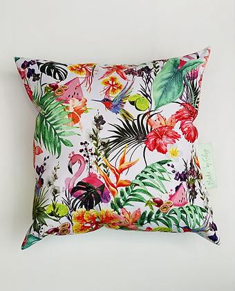 """Coussin d'extérieur""""Jungle flamingo"""""""