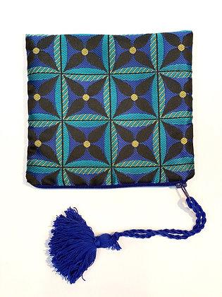 """Mini Pochette de sac """"Étoile Bleue pompon bleu"""""""