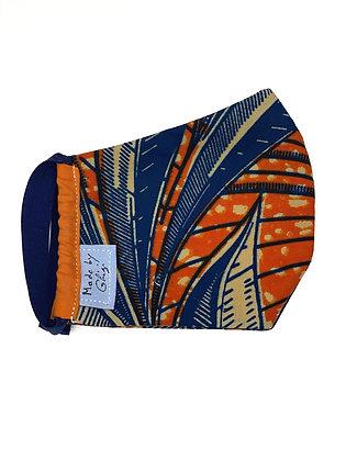 """Masque en tissu """"orange tropicale"""""""