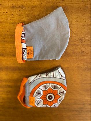"""Fabric mask """"Orange Eye"""""""