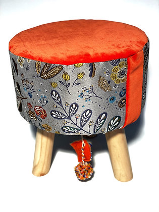 "Tabouret ""Orange automnale"""