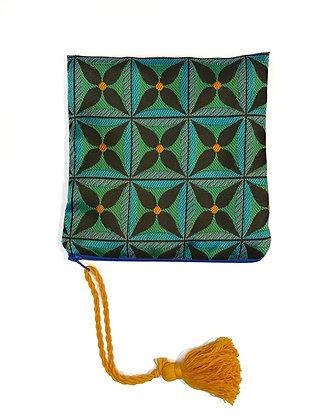 """Mini Pochette """"Géométrie florale verte"""""""