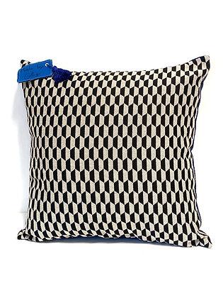 """Cushion """"black & blue snake"""""""