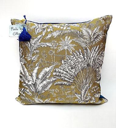 "Cushion ""Golden Tropic"""