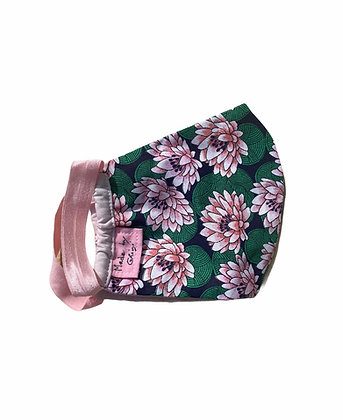 "Masque en tissu ""fleurs de grenouille"""