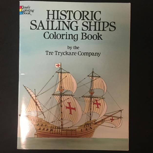 Historic Sailing Ships Coloring Book