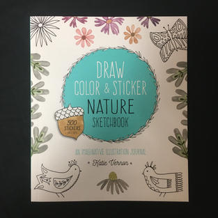 Draw Color & Sticker Nature Sketchbook