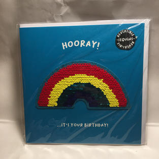 Rainbow Sequins Birthday - Square - Notes & Queries