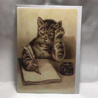 Cat with Blank Page - Nelson Line