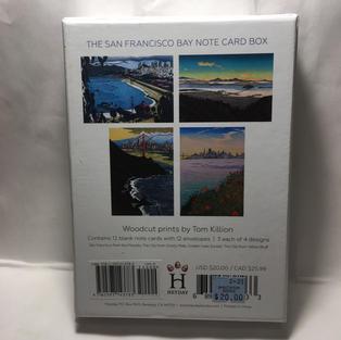 San Francisco Bay Note Card Box - Tom Killion (back)