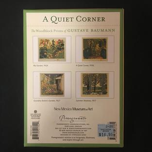 A Quiet Corner - Gustave Baumann (back)