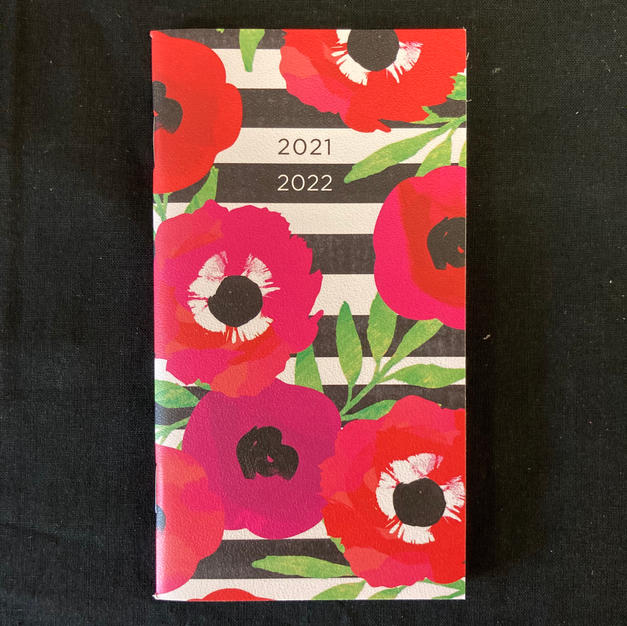 2021-2022 2-Year Checkbook Calendar - Flowers