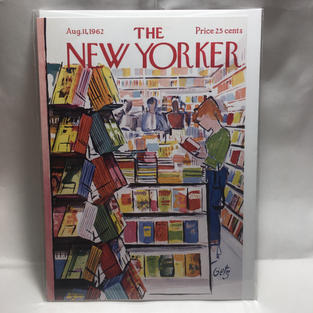 New Yorker Cover - Sketchy Bookstore - Nelson Line