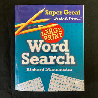 Super Great Grab A Pencil Large Print Word Search - Ed. Richard Manchester