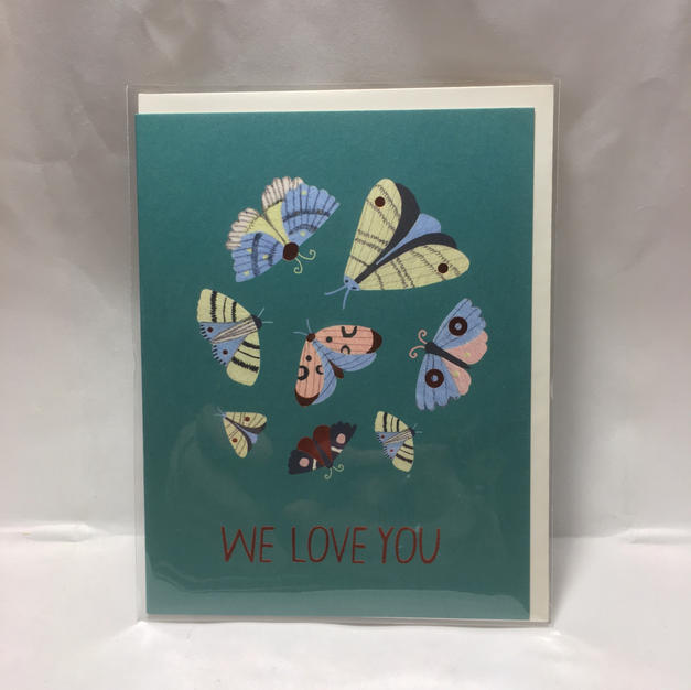 We Love You Moths Thank You / Congrats / Sympathy / Get Well / Other - Red Cap Cards
