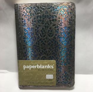 Silver Filigree - Lined Small Paperblanks Journal