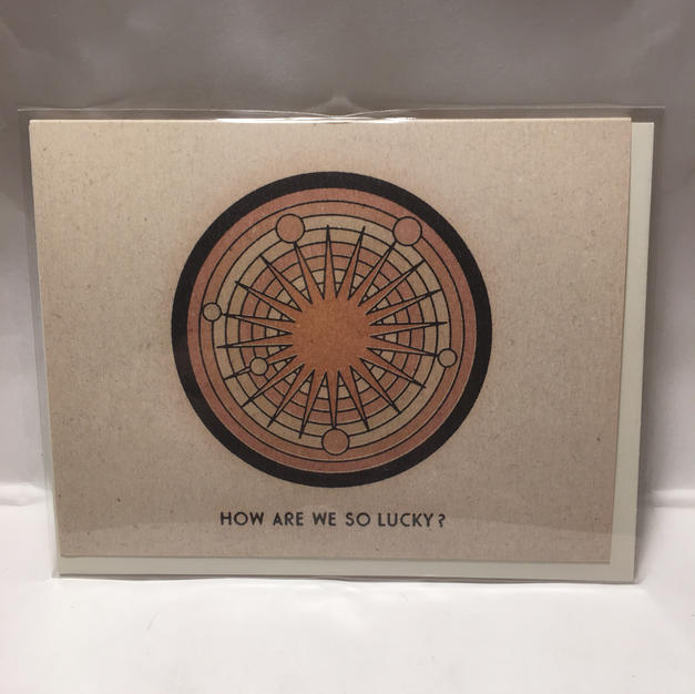 So Lucky Valentine's Day / Love / Wedding / Anniversary / Congrats / Thank You - Red Cap Cards