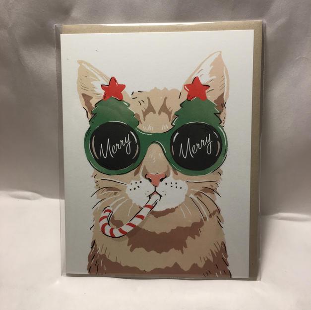 Candy Cane Sunglasses Cat - Amy Heitman