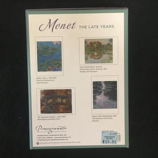 The Late Years - Monet (back)