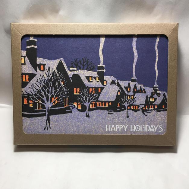 Neighbor Chimneys - Laura Wilder - Holiday Cards