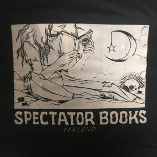 Spectator Oakland Moon Reader T-Shirt - Tan on Black - Stacie Willoughby