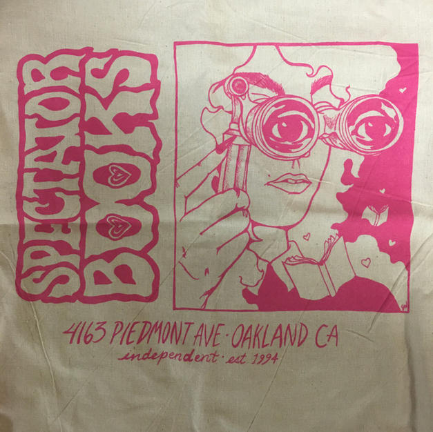 Spectator Oakland Opera Glasses Tote Bag - Hot Pink on Tan - Stacie Willoughby