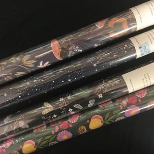 Red Cap Gift Wrap Roll - Dark Beetles / Constellation / Dark Moths / Shells