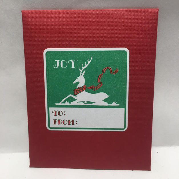 Reindeer Gift Tags - Saturn Press