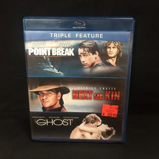 Blue-ray - Patrick Swayze Triple Feature - Point Break / Next of Kin / Ghost