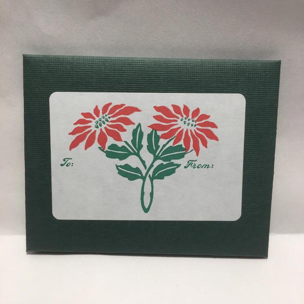 Poinsettia Duo Gift Tags - Saturn Press