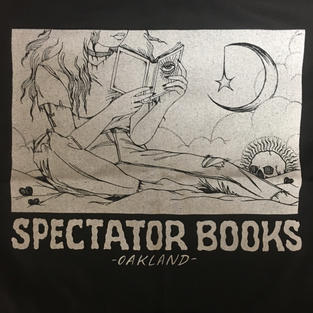 Spectator Oakland Moon Reader Tote Bag - Tan on Black - Stacie Willoughby
