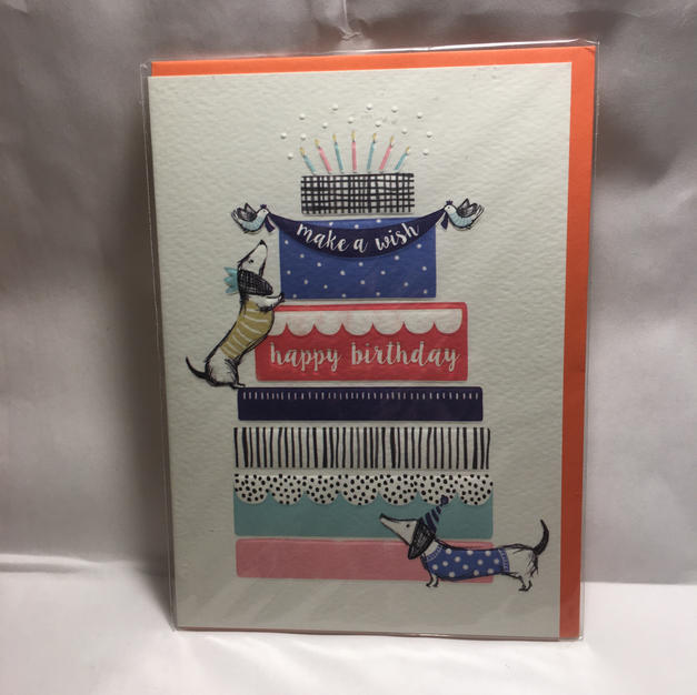Dachshund Colorful Cake Birthday - Notes & Queries