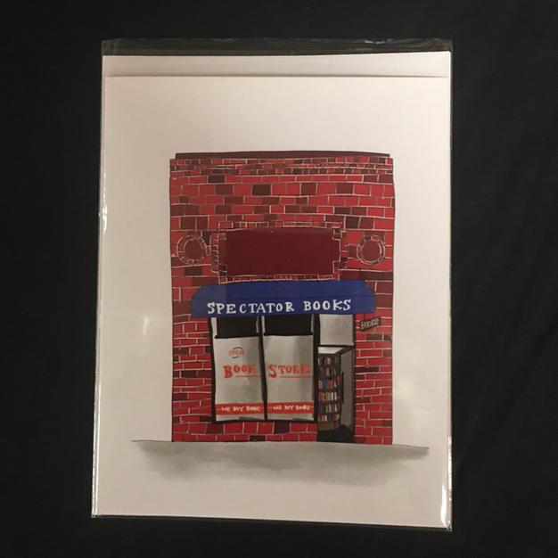 Spectator Brick Storefront Oakland Card