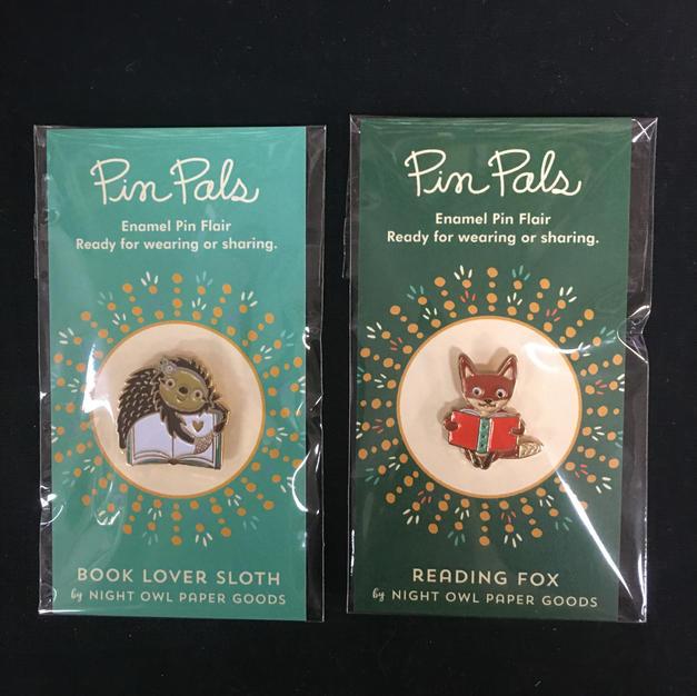 Pin Pals - Reader Sloth / Reader Fox