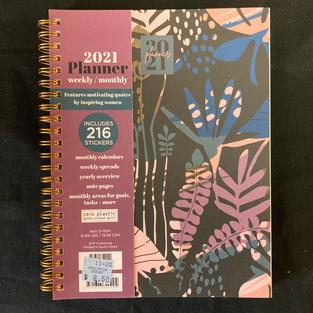 2021 Weekly/Monthly Planner - Dark Plants