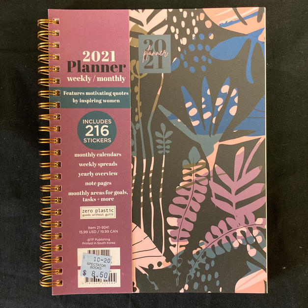 2021 Weekly/Monthly Planner - Dark Plants