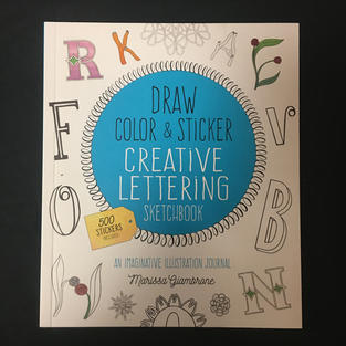 Draw Color & Sticker Creative Lettering Sketchbook