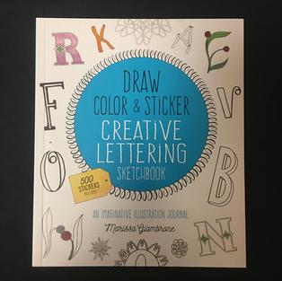 Draw Color & Sticker Creative Lettering Sketchbook