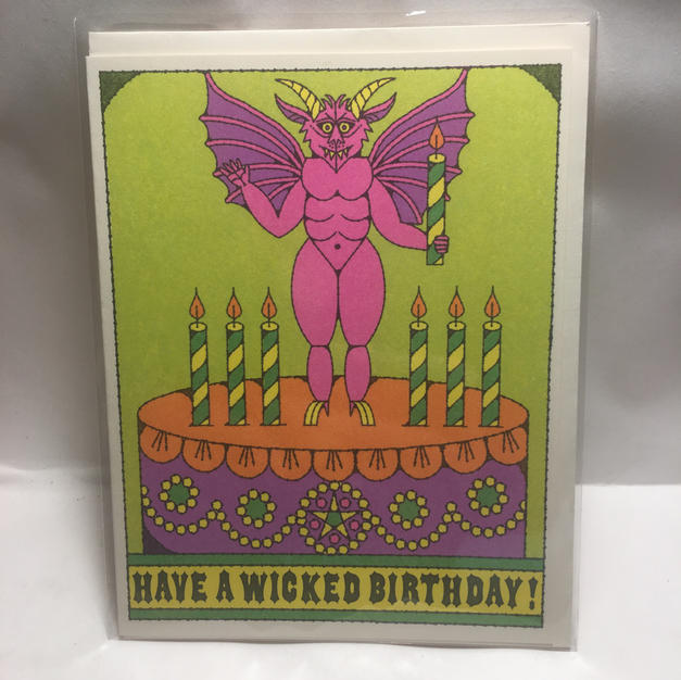 Wicked Birthday - Red Cap Cards