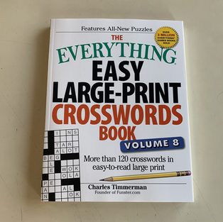 The Everything Easy Large-Print Crosswords Book Volume 8 by Charles Timmerman