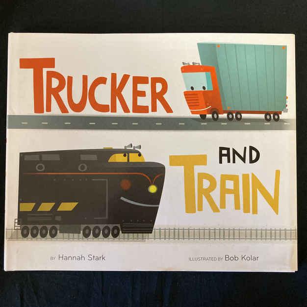 Trucker and Train by Hannah Stark