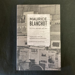 Political Writings 1953 - 1993 by Maurica Blanchot