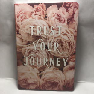 Trust Your Journey Roses - Lined Journal